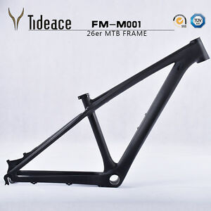 26er-Carbon-Mountain-Bike-Frame-14-inch-3K-Disc-Brake-T700-MTB-Frame-BB92