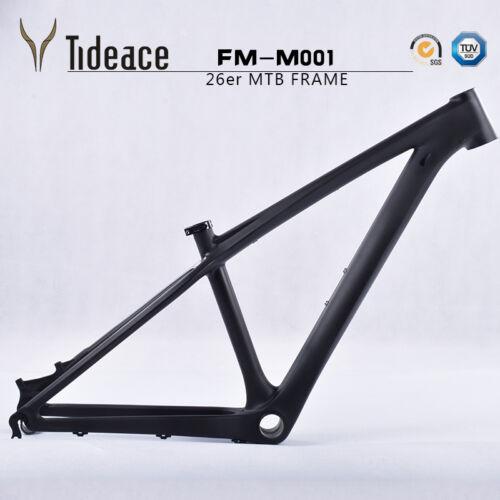 26er Full Carbon Mountain Bike Frames 14/'/' OEM MTB Bicycle Frameset 3K Matte