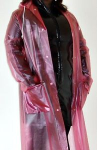 Vintage-pvc-plastic-transparent-raincoat-mac-regenmantel-size-12-good-condition
