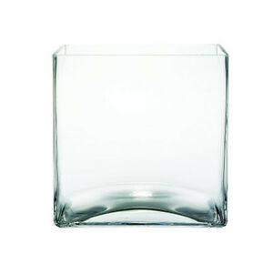 6 Pack 12 7cm 5 Inch Wedding Centerpiece Clear Square