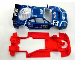 Chasis-F40-Hybrid-Mustang-Slot-compatible-Scalextric-carroceria-no-incluida
