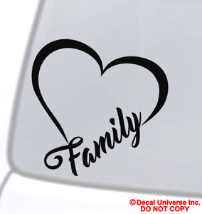 Details About Family Heart Vinyl Decal Sticker Car Window Wall Per Live Love Laugh Infinity