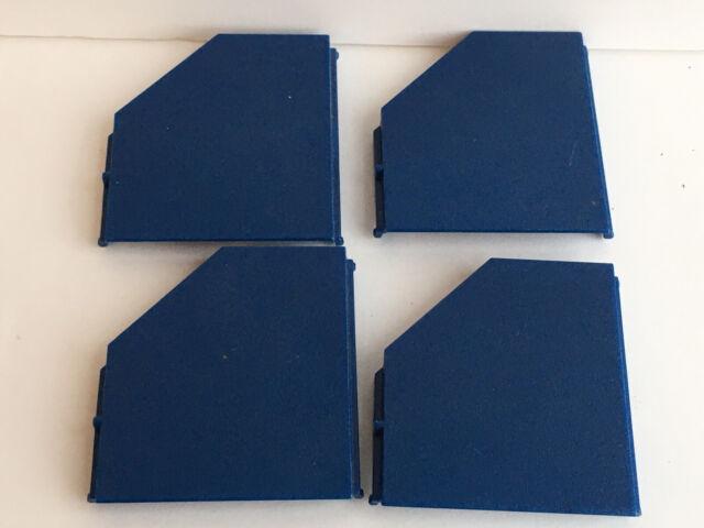 4 Vintage Fisher Price Construx Dark Blue Square Angled Panel Flat Part Lot