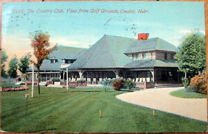 1914-Postcard-Country-Club-Golf-Course-Omaha-Nebraska-NE