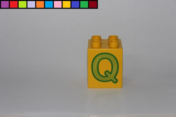 Enthousiaste Lego Duplo-lettre Q-jaune - 2x2 Hauteur 4er-motif Pierre-de 6051 Produits De Qualité Selon La Qualité