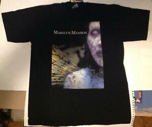 2 Marilyn Manson Shirt vintage tshirt Antichrist Superstar 1997 rare BeLIEve tee