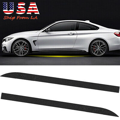 Carbon Fiber Style Bumper Trunk Sill Guard Decor Sticker Fit For BMW 1-7 Series
