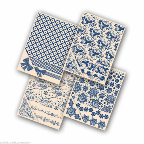 Brand New 4x TATTERED LACE CHRISTMAS EMBOSSING FOLDERS ALL FOUR FOR JUST £19.50