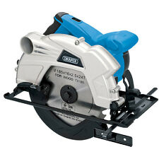 HEAVY DUTY DRAPER 1300W 185MM LASER GUIDE CIRCULAR SAW & TCT BLADE 2YR WARRANTY