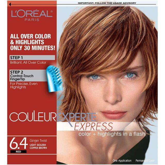 L'Oréal Couleur Experte Hair Color and Highlights Kit, Ginger Twist 6.4