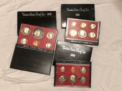 ✯Susan B Anthony Proof Set Collection ✯ 1979-1981 ✯ 6 GEM Coins ✯1 Proof Set✯