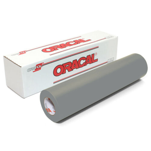 SILVER GREY ORACAL 631 Adhesive Backed Matte Vinyl 12in x 10ft Roll