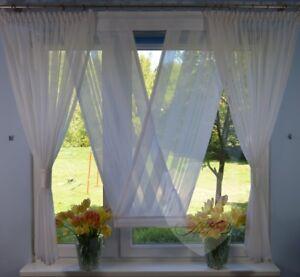 NEU Moderne Gardinen Wohnzimmer Fensterdekoration Weiß Fenster 140 ...