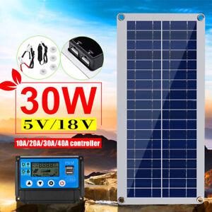 30W-12V-Dual-USB-Flexible-Solar-Panel-For-Battery-Charge-5V-USB-Solar-Controller