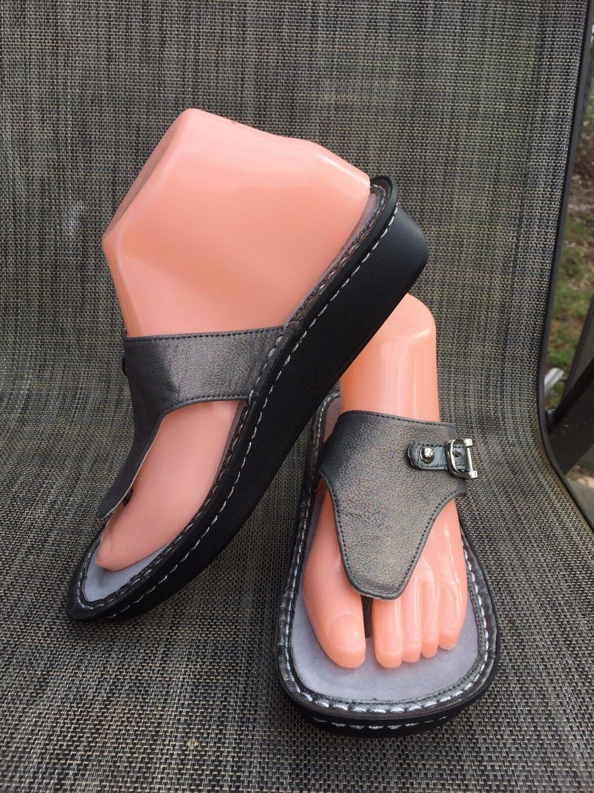 Alegria Vanessa VAN-204 Estaño Estaño Estaño Slip On Tanga Toe Sandalias Flip Flop talla.37 7 US  productos creativos