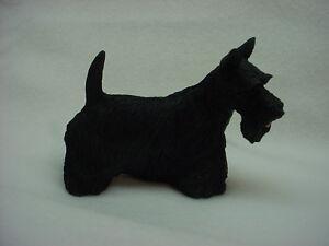 SCOTTIE-FIGURINE-dog-HAND-PAINTED-Resin-Statue-puppy-NEW-Scottish-Terrier-Scotty