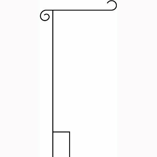 "Wholesale Lot 24 Powder Coated Wrought Iron Garden Flag Stand 18"" w 38"" h"