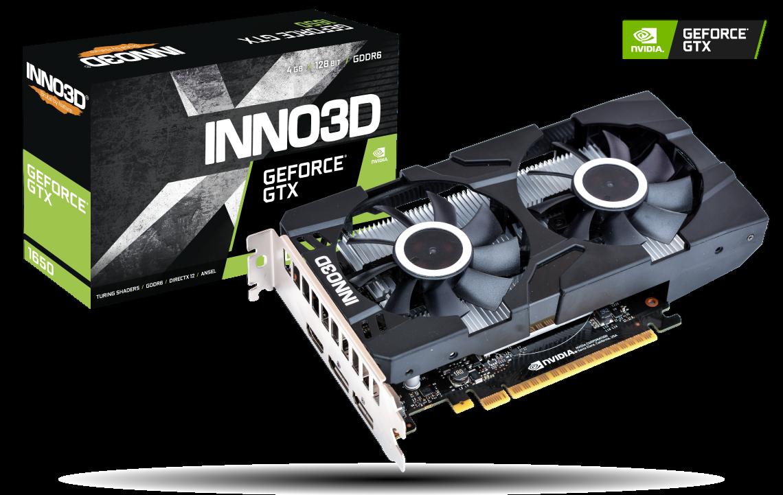 Inno3D GeForce GTX 1650 4GB GDDR6 TWIN X2 OC PCI-E Video Card HDMI DisplayPort