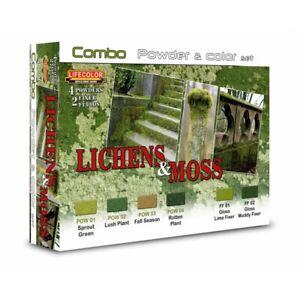 Lifecolor-SPG06-Lichens-Moss-Combo-Powder-amp-Color-Set-6x22-ml-100ml-13-64