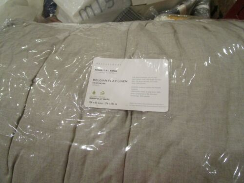 Pottery Barn Flax Belgian Flax Linen Comforter King New in package