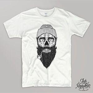 145dd6fb SKULL SAILOR T-SHIRT Tattoo Style Abandon Hipster Retro Beard Tumblr ...