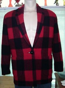 Women s ivy koral buffalo plaid 100 wool plaid blazer jacket size