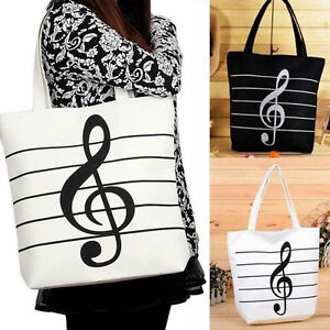 New-Women-Casual-Canvas-Musical-Note-Tote-Shopping-Shoulder-Bags-Girls-Handba-GT