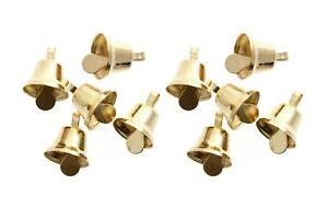 10-x-Small-10mm-Liberty-Gold-Jingle-Bells-Craft-Decoration-Charm-Cards