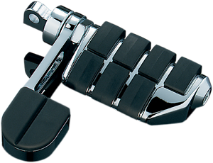 Kuryakyn 8062 Chrome ISO Dually Pair Footpeg Stirrup Heel Rest Harley Davidson
