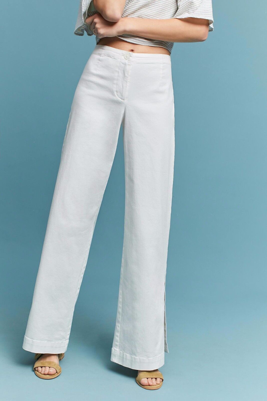 NWT PLENTY by TRACY REESE SIDE-SLIT Weiß TROUSER PANTS 4, 6