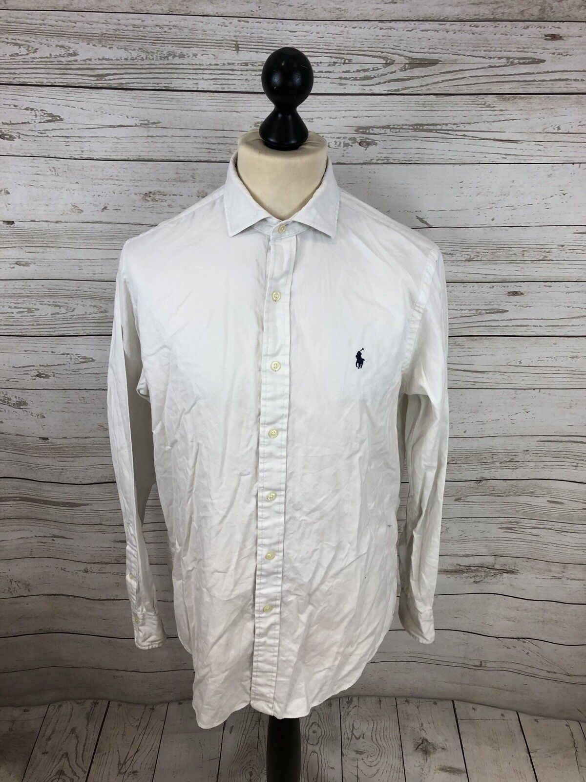 RALPH LAUREN Shirt - Size Medium - White - Great Condition - Men's