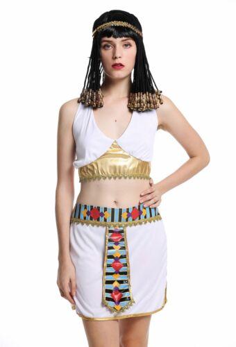 Kostüm Damen Frauen Karneval Ägypterin Kleopatra Cleopatra Pharaonin weiß S