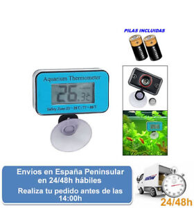 Termometro digital para uso en peceras acuarios peces terrarios (Envio express)