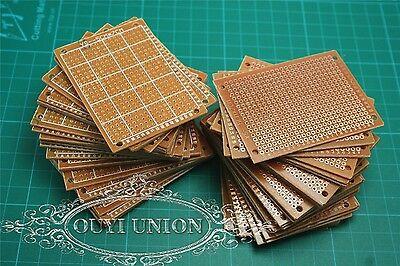 50Pcs 5cm x 7cm DIY Prototype Paper PCB Circuit Board Universal Board Breadboard