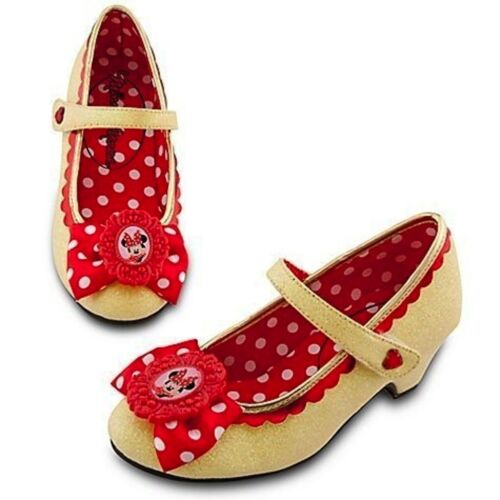 Disney Store Classic Yellow Sparkling Minnie Mouse Shoes girl for RED costumes