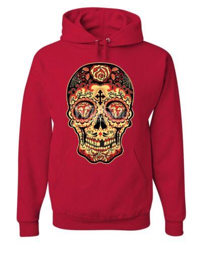 Gold Sugar Hoodie Day Dia Dead Of Muertos Skull Calavera Sweatshirt The De xYnHRng