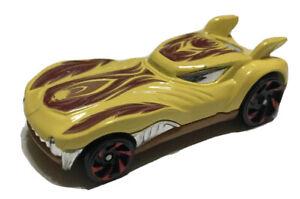 Hot Wheels 2010 Howlin Heat Yellow Thailand Loose 1:64 Die Cast Car Mattel R0949