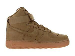 Detalles de Hombre Nike Air Force 1 High ' 07 LV8 Trigo Flax Goma Marrón 882096 200