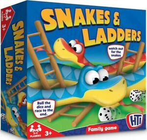 Childrens-amp-Family-Board-Game-Snakes-and-Ladders-Traditional-Kids-amp-Adults-Toy
