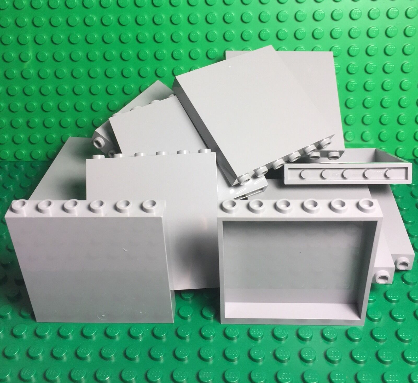 Lego X50 Bulk Light Bluish Gris 1x6x5 Panel / Medium Stone Gris Wall Parts Lot