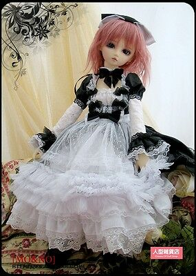 1/3 SD MSD DOD BJD dress skirt Suit Outfit lolita doll Dollfie LUTS Black