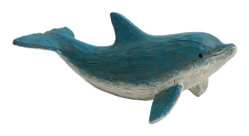 Hand carved look Rustic Looking Dolphin Figurine
