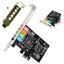 PCI-E Express 5.1ch CMI8738 Audio Sound Card w//Low Profile Bracket US Stock