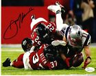 Julian Edelman New England Patriots Autographed SB Catch 8x10 Photo JSA COA-