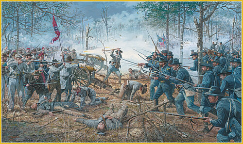 Dale Gallon print commissioned by War College Hornet/'s Nest Battle of Shiloh