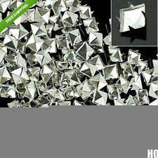 100pcs 4mm Prong Metal Square Pyramid Punk Spike Spots DIY Leathercraft