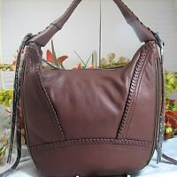 Gorgeous Oryany Michelle Large Brown Leather Expandable Hobo Msrp $275