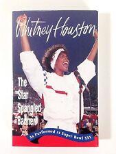Whitney Houston The Star Spangled Banner 1991 Cassette Single NFL Super Bowl XXV
