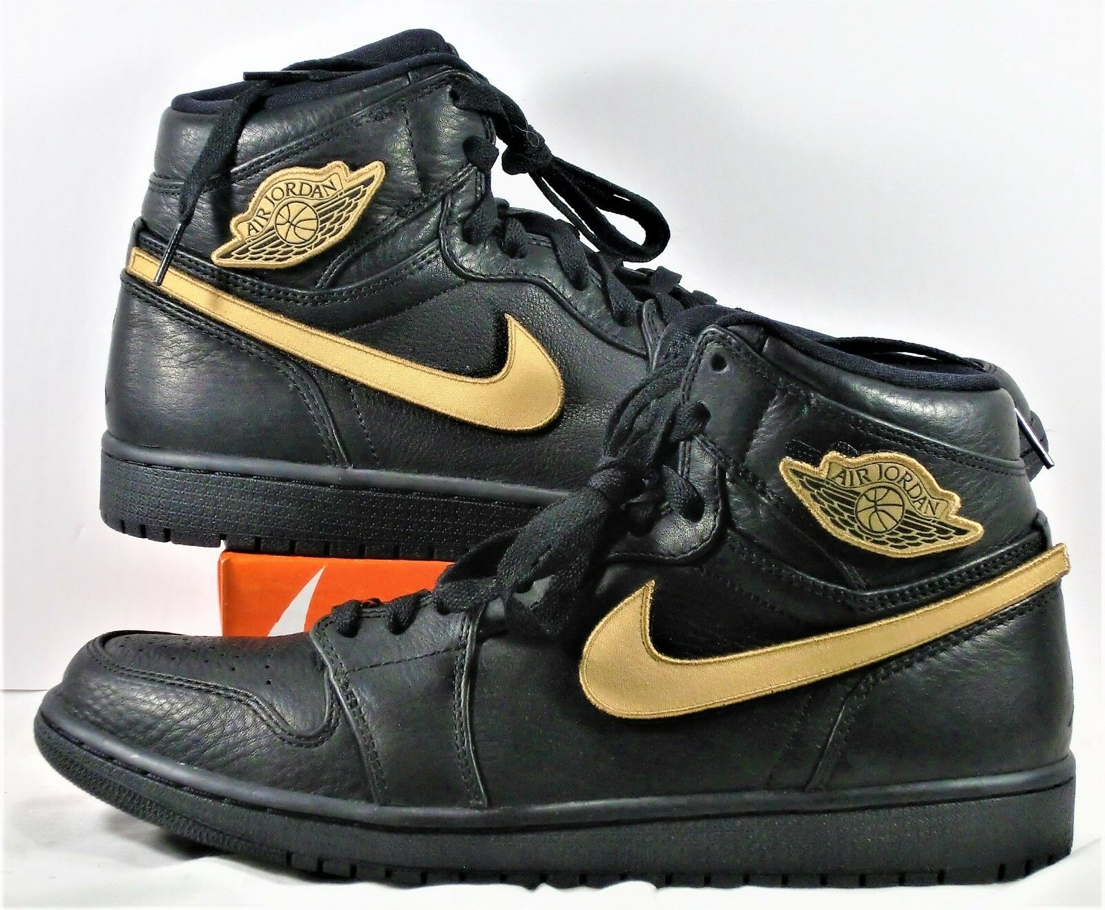 Nike air air air jordan 1 'alto bhm oro nero history month sz 10,5 nuovi 908656 001 4858e6