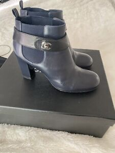 Authentic-Chanel-Bootie-38-W-Box-And-Dust-bag